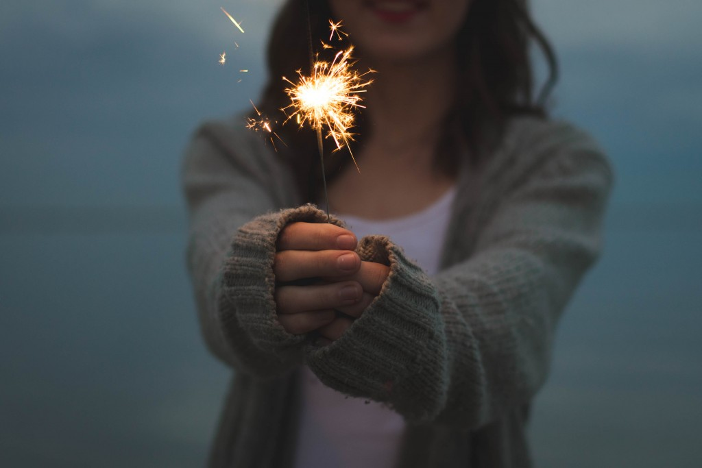 Woman-with-Sparkler